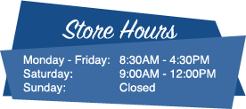 Monday - Friday: 8:30AM - 4:30PM, Saturday: 9:00AM - 12:00PM, Sunday: Closed
