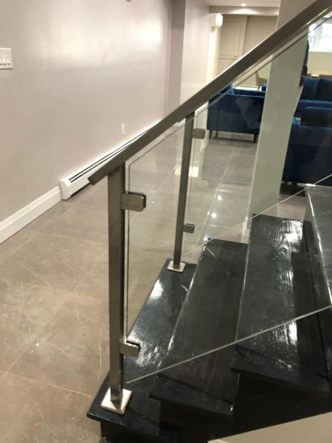 Custom Stair Glass